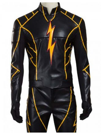 Todd Lasance The Flash Rival Black Racer Leather Jacket