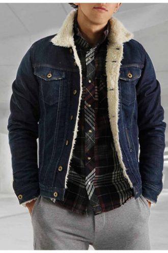 Tommy Jarvis Friday The 13th Blue Denim Fur Jacket