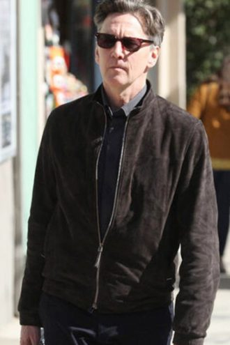 Tv Series Good Girls Andrew Mccarthy Brown Suede Leather Jacket