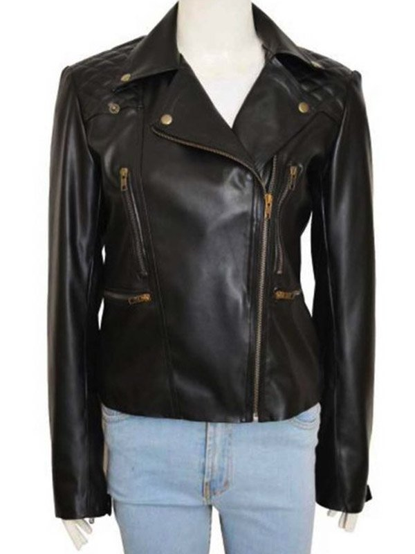 Tv Series Lucifer Lauren German Black Biker Leather Jacket