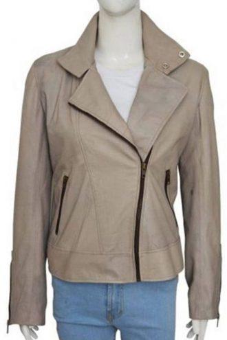 Tv Series Lucifer Lauren German Grey Motorcycle Leather Jacket