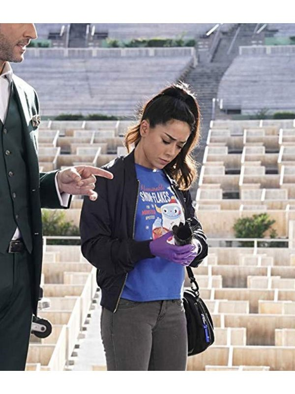 Tv Series Lucifer S02 Aimee Garcia Cotton Bomber Jacket