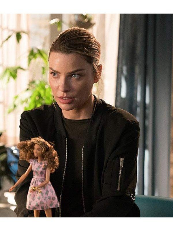 Tv Series Lucifer S03 Lauren German Cotton Bomber Jacket