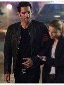Tv Series Lucifer Tom Ellis Black Leather Jacket