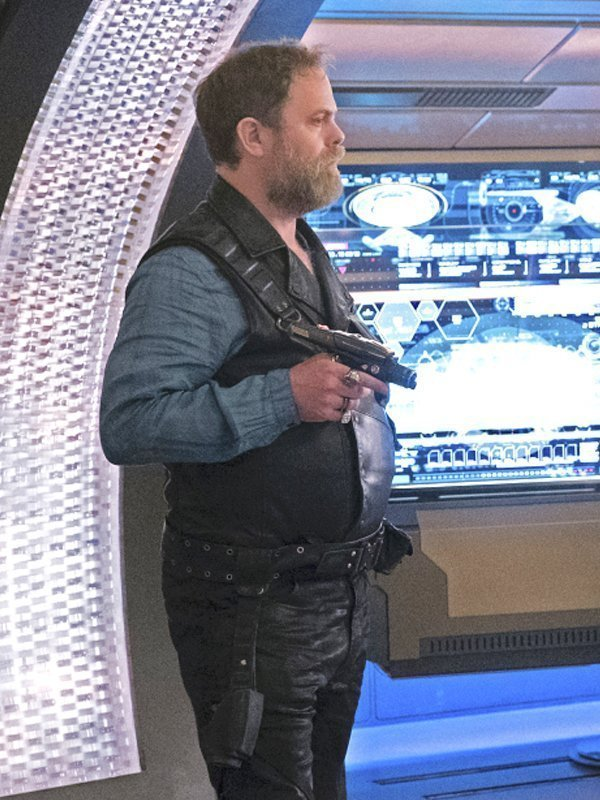 Tv Series Star Trek Discovery Rainn Wilson Leather Black Vest