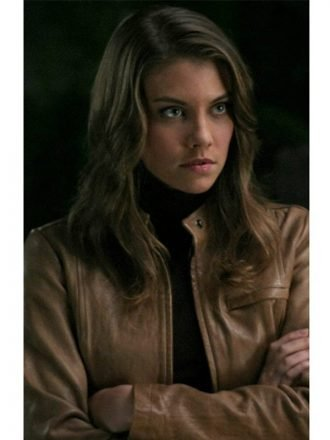 Tv Series Supernatural Lauren Cohan Brown Leather Jacket
