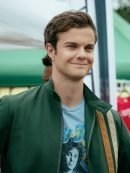 Tv Series The Boys Jack Quaid Striped Green Cotton Jacket