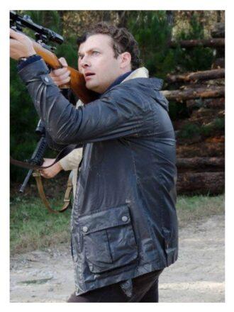 Tv Series The Walking Dead Aaron Black Hooded Jacket