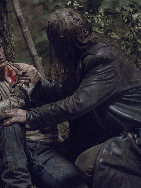Tv Series The Walking Dead Ryan Hurst Black Coat