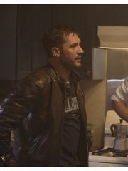 Venom Eddie Brock Biker Leather Jacket