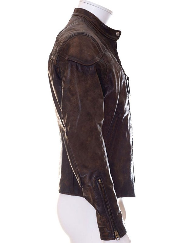 Venom Eddie Brock Brown Biker Jacket
