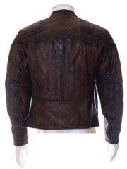 Venom Tom Hardy Brown Cafe Racer Leather Jacket