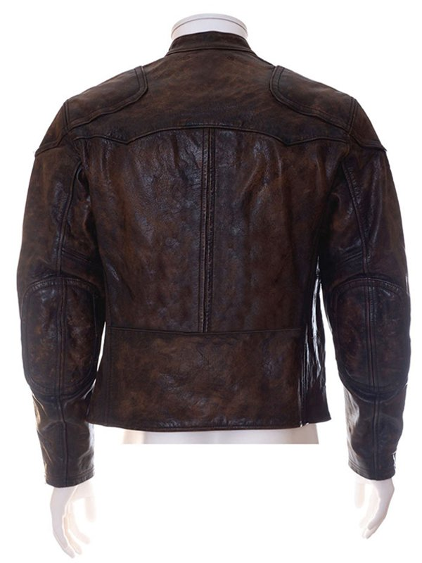 Venom Tom Hardy Brown Cafe Racer Leather Jacket