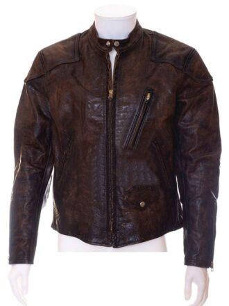 Venom Tom Hardy Distressed Brown Leather Motorcycle Jacket