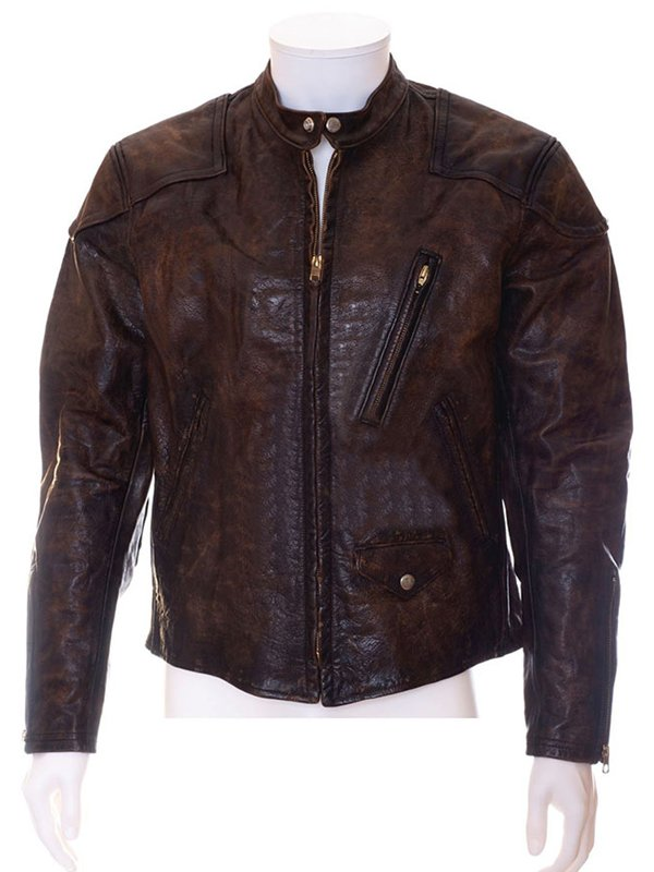 Venom Tom Hardy Distressed Brown Leather Motorcycle Jacket