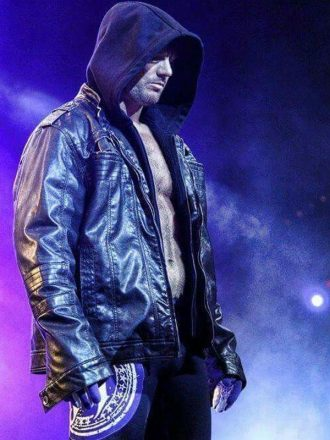 WWE Superstar AJ Style Hooded Leather Jacket