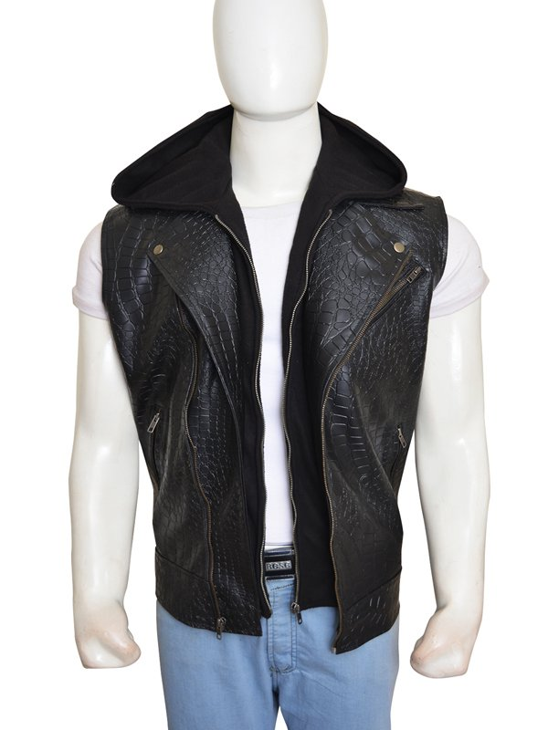 WWE Superstar AJ Styles Vest With Removable Hoodie