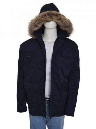Wentworth Miller The Flash Captain Cold Shearling Blue Coat