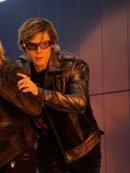 X-Men Apocalypse Evan Peters Silver Leather Jacket