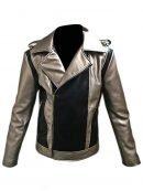 X-Men Apocalypse Evan Peters Silver Motorcycle Leather Jacket