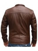 X-Men First Class Michael Fassbender Brown Leather Jacket