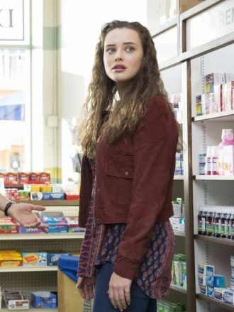 13 Reasons Why Hannah Baker Maroon Suede Jacket