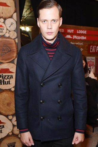 2020 Sundance Film Festival Nine Days Bill Skarsgår Black Peacoat
