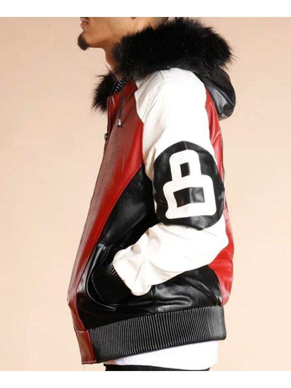 8 Ball Logo Bombe Leather Jacket