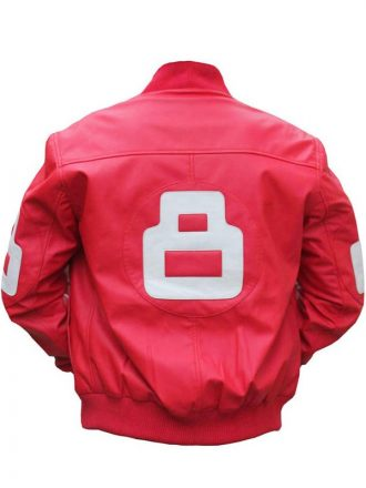 8 Ball Pink Bomber Leather Jacket