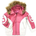 8 Ball Pink Hooded Fur Leather Jacket