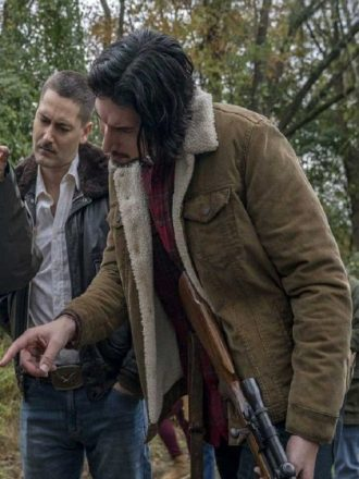 Adam Driver BlacKkKlansman Brown Shearling Jacket