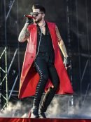 Adam Lambert Concert 2019 Red Sleevless Coat