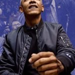 Barack Obama Black Bomber Jacket