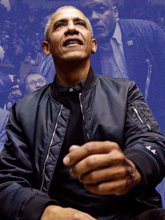 Barack Obama Black Bomber Jacket