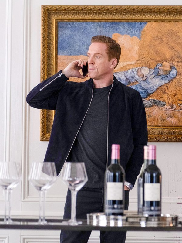 Billions S05 Damian Lewis Suede Leather Jacket