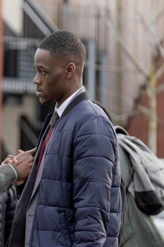 Blue Story Stephen Odubola Blue Bomber Puffer Jacket