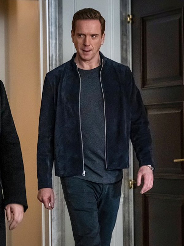 Bobby Axelrod Billions S05 Blue Suede Jacket