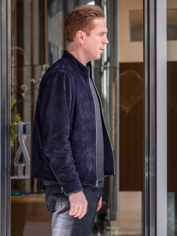 Bobby Axelrod Billions S05 Blue Suede Leather Jacket