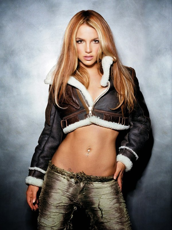 Britney Spears Cropped Shearling Leather Jacket