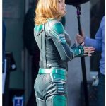 Captain Marvel Brie Larsons Costume Leather Jacket