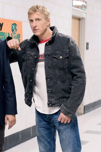 Cobra Kai William Zabka Vintage Black Denim Jacket