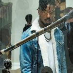 Erik Killmonger Black Panther Shearling Denim Jacket