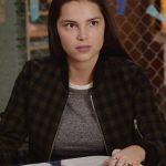 Estela de la Cruz 13 Reasons Why S04 Checked Jacket
