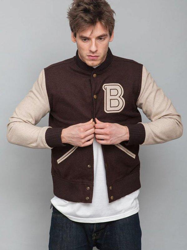 Hotline Miami Flight Brown Varsity Jacket