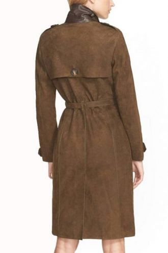 How to Get Away With Murder Karla Souza Suede Trench Coat