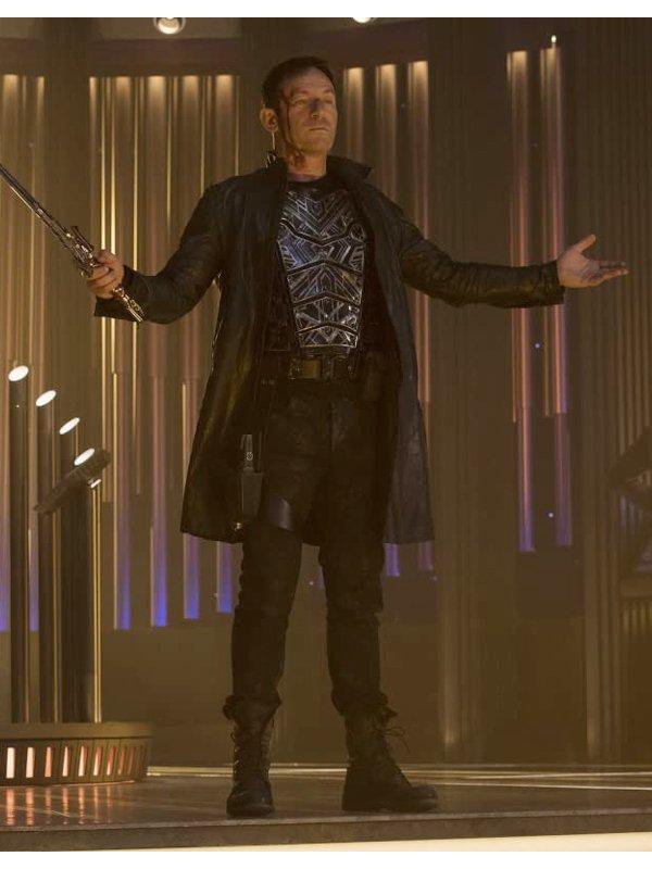 Jason Isaacs Star Trek Discovery Black Leather Coat
