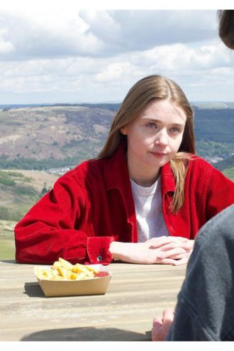 Jessica Barden The End Of The F World Red Corduroy Jacket