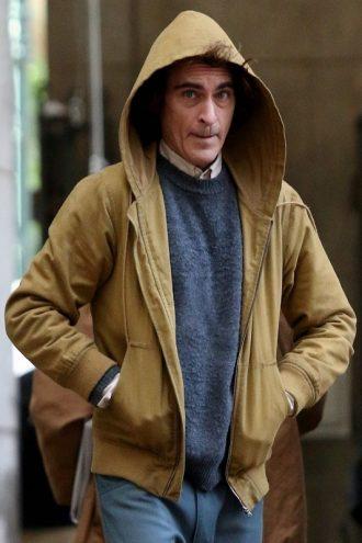 Joker Joaquin Phoenix Beige Cotton Hoodie