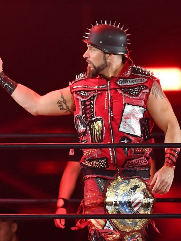 Lance Archer AEW Red Spikes Vest