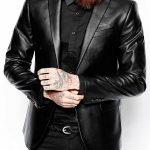 Men's Slim Fit Lambskin Leather Coat